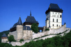 Karlstejn - the beautiful gothic castle outside Prague